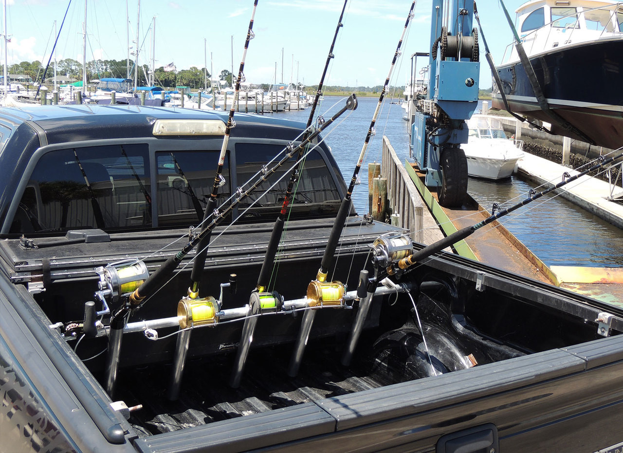 truck bed rack for salt water fishing rods