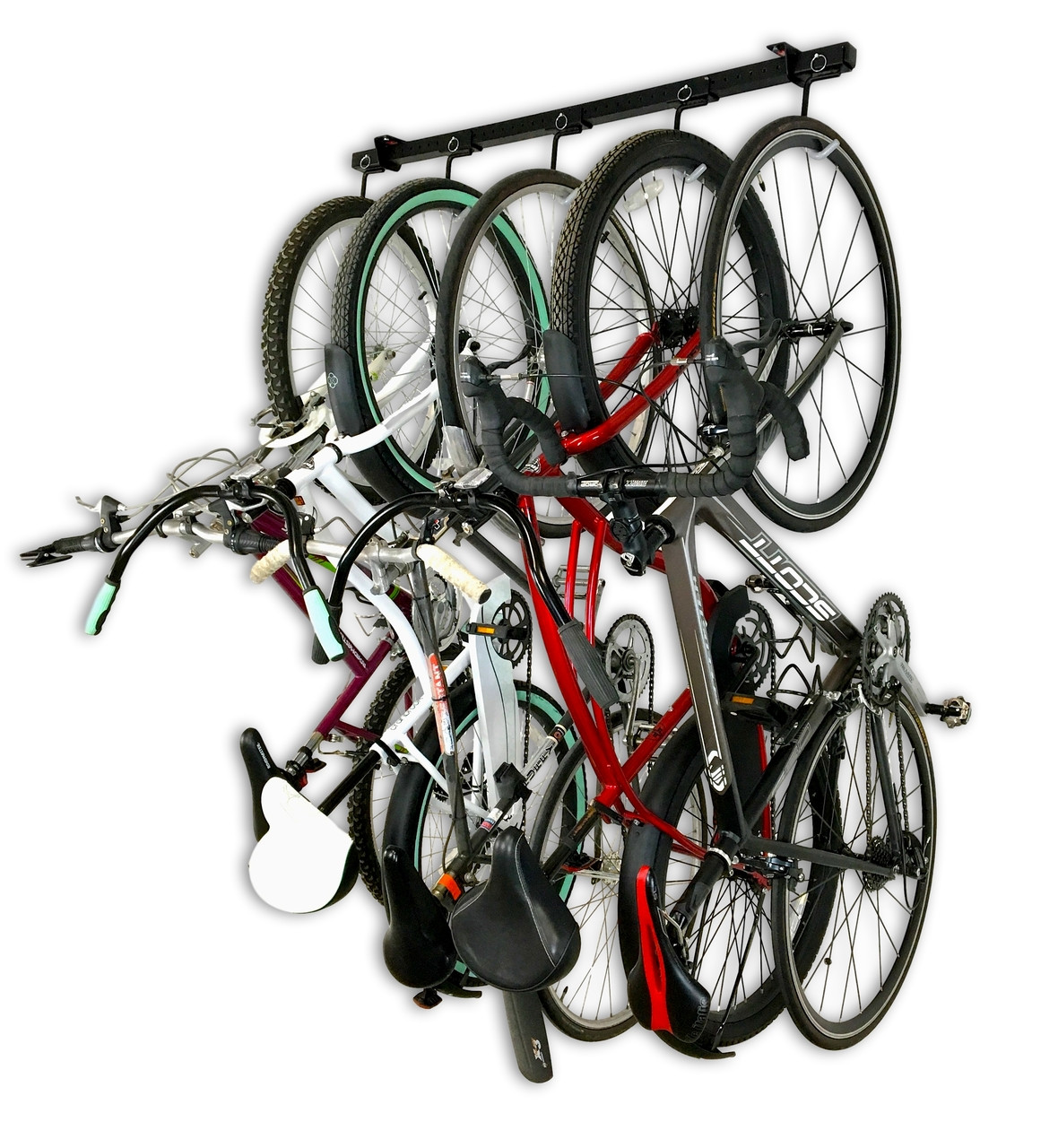 hanging bike garage storage rack