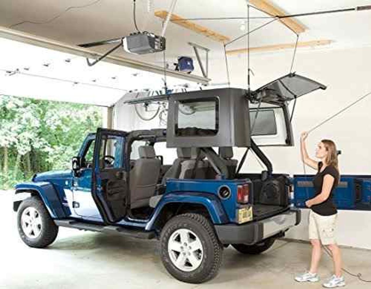 best jeep hard top garage pulley hoist