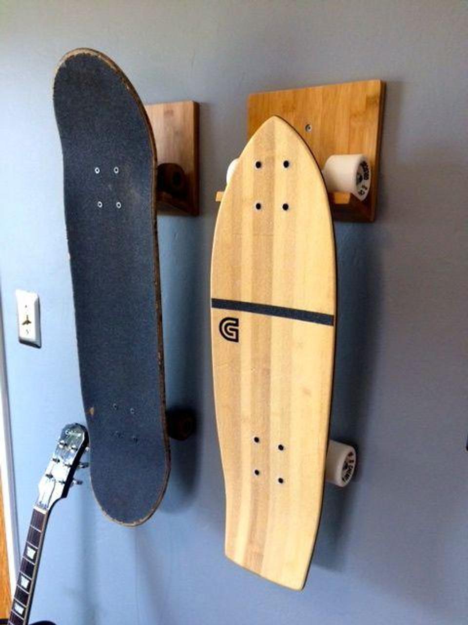 Bamboo Skateboard Wall Display | Board Hanger