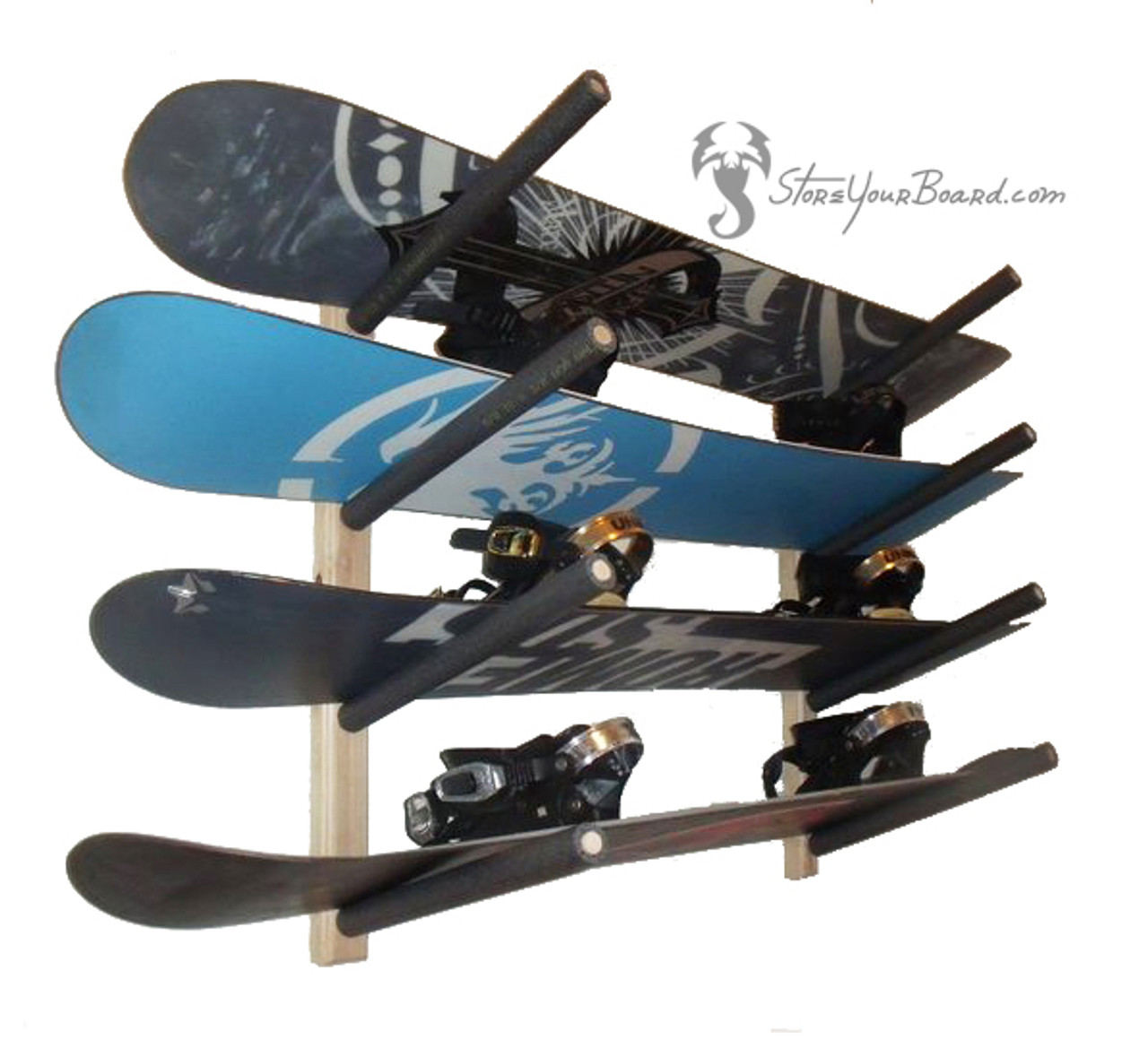 snowboard garage rack 4 boards syb basics