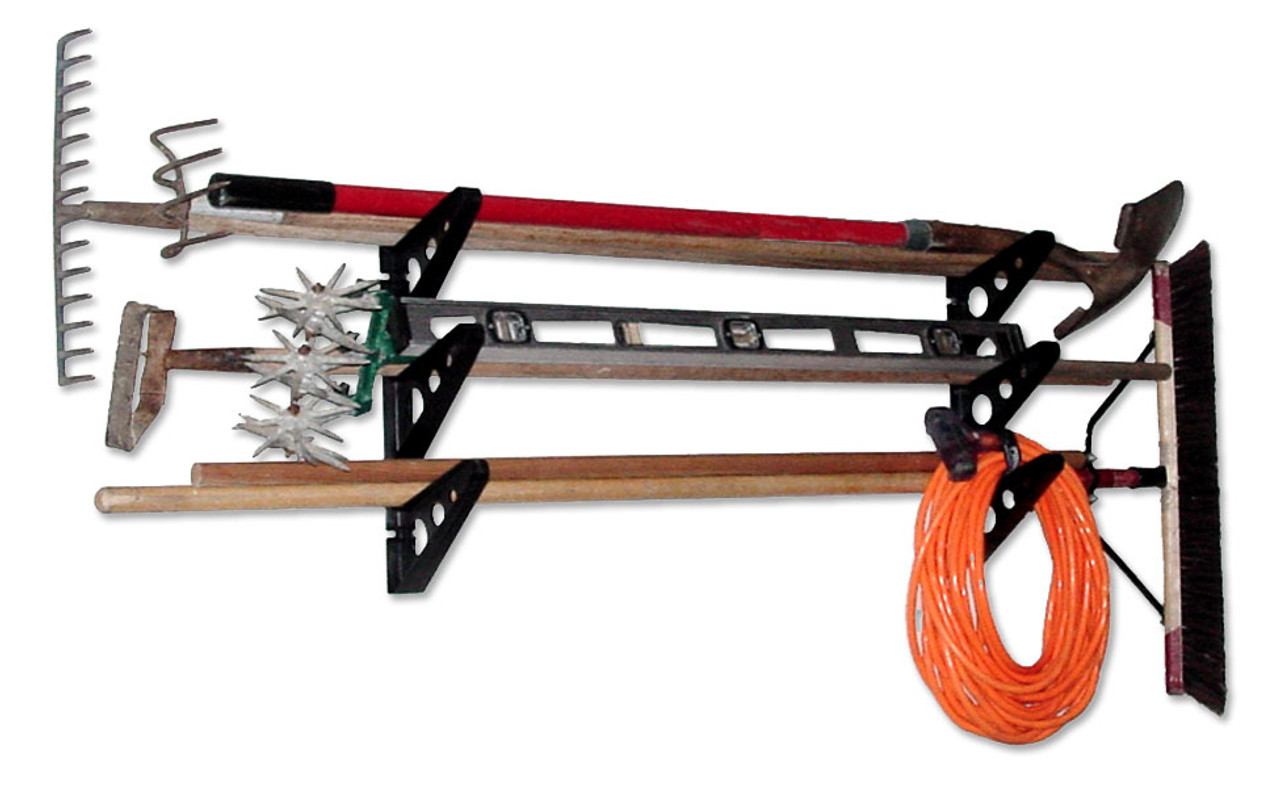 Garage Tool Storage Rack | Trifecta Rack | Yard Tool Organizer
