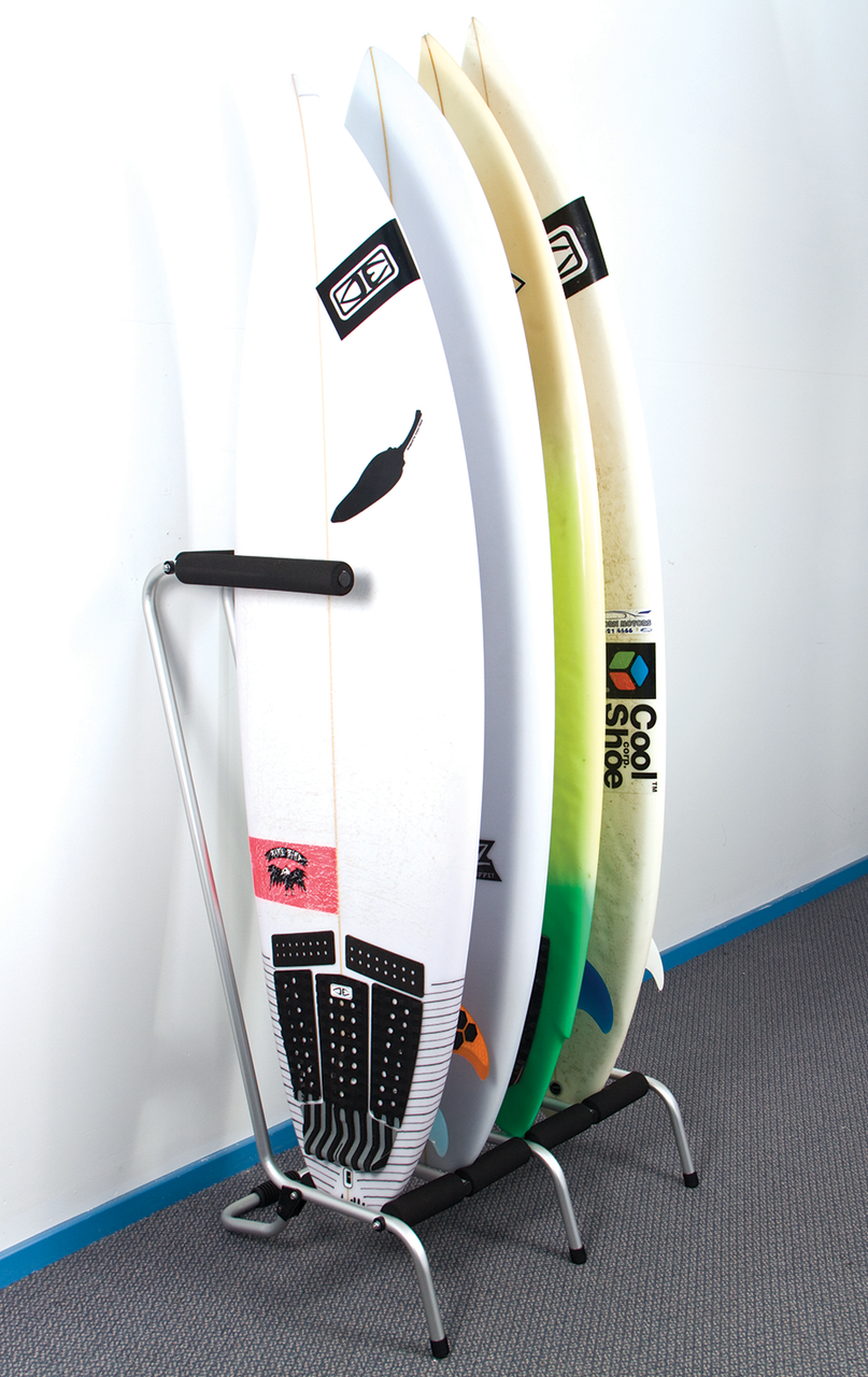 Freestanding 4 Surfboard Rax | Ocean & Earth | Silver-Black