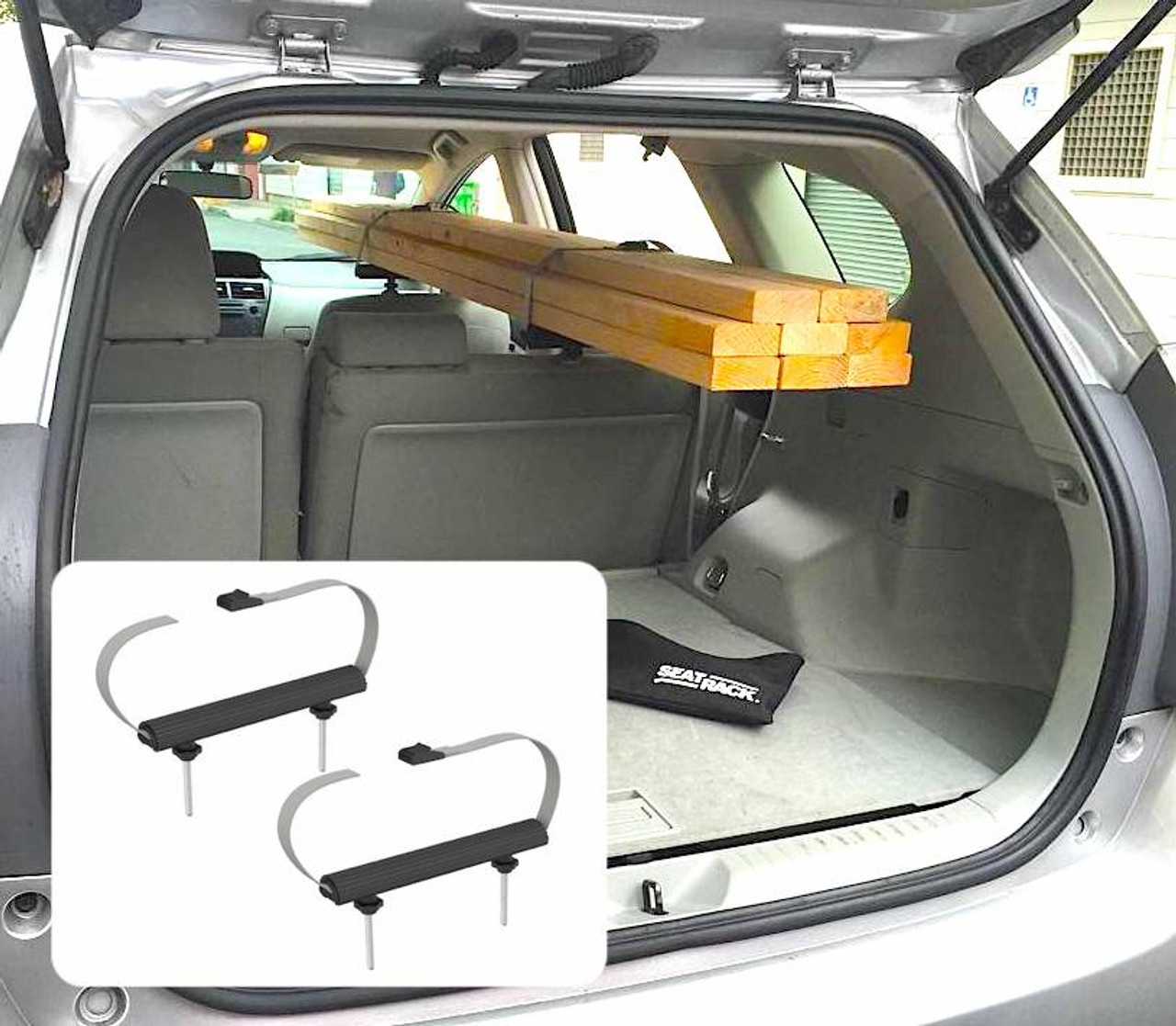 car interior rack for lumber and tools