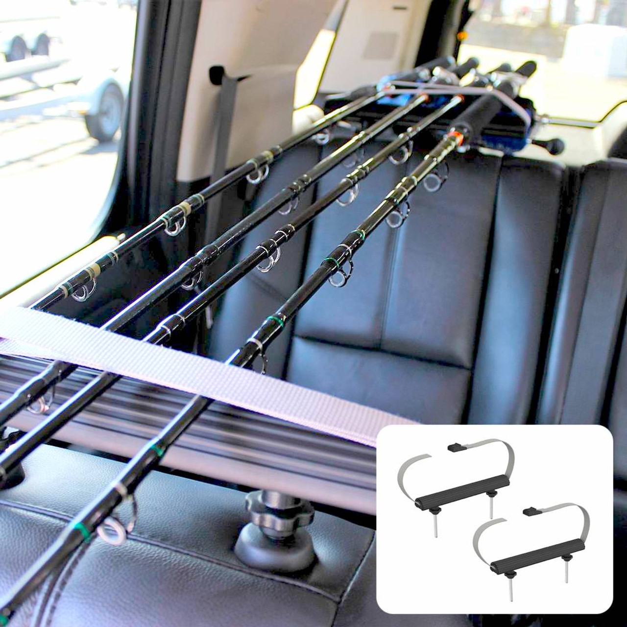 car and SUV interior fishing rod storage rack