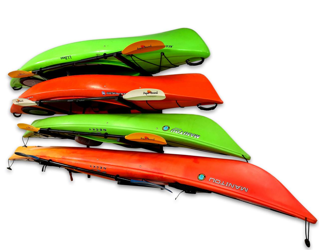 indoor adjustable wall storage rack for kayaks