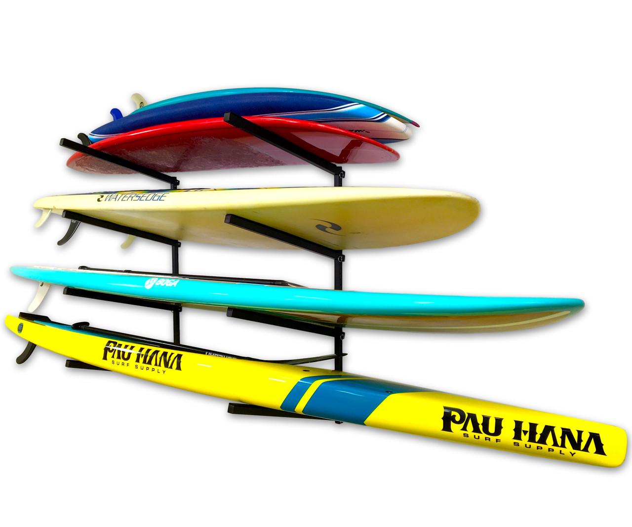 adjustable paddleboard wall storage rack