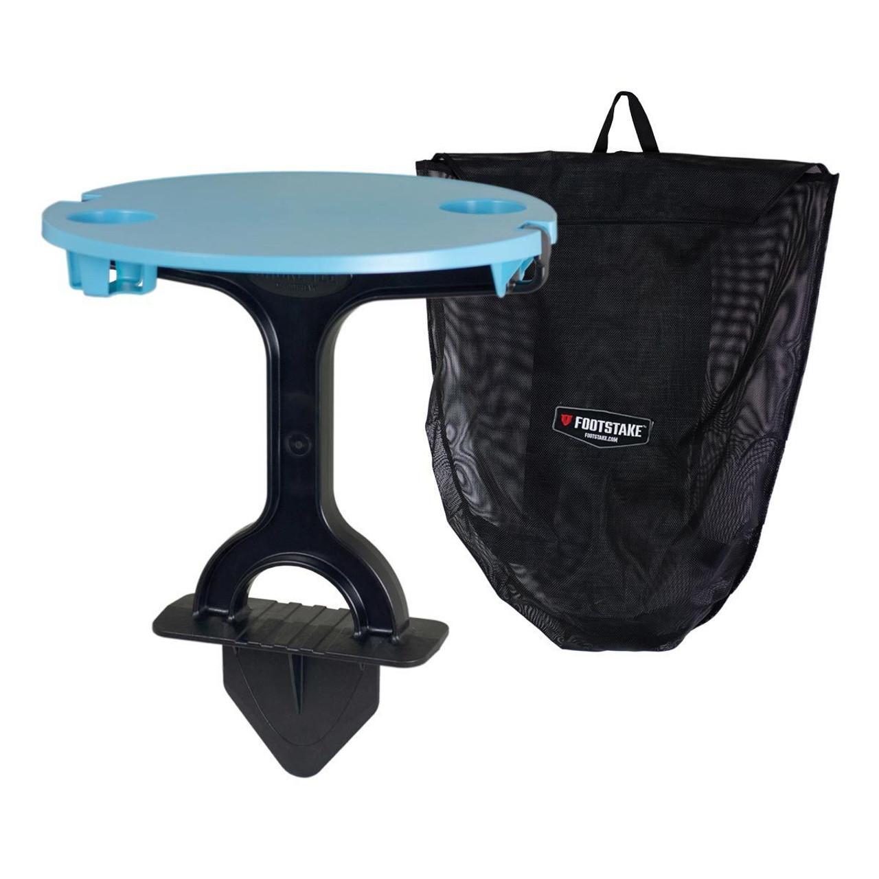 portable beach table sand stake
