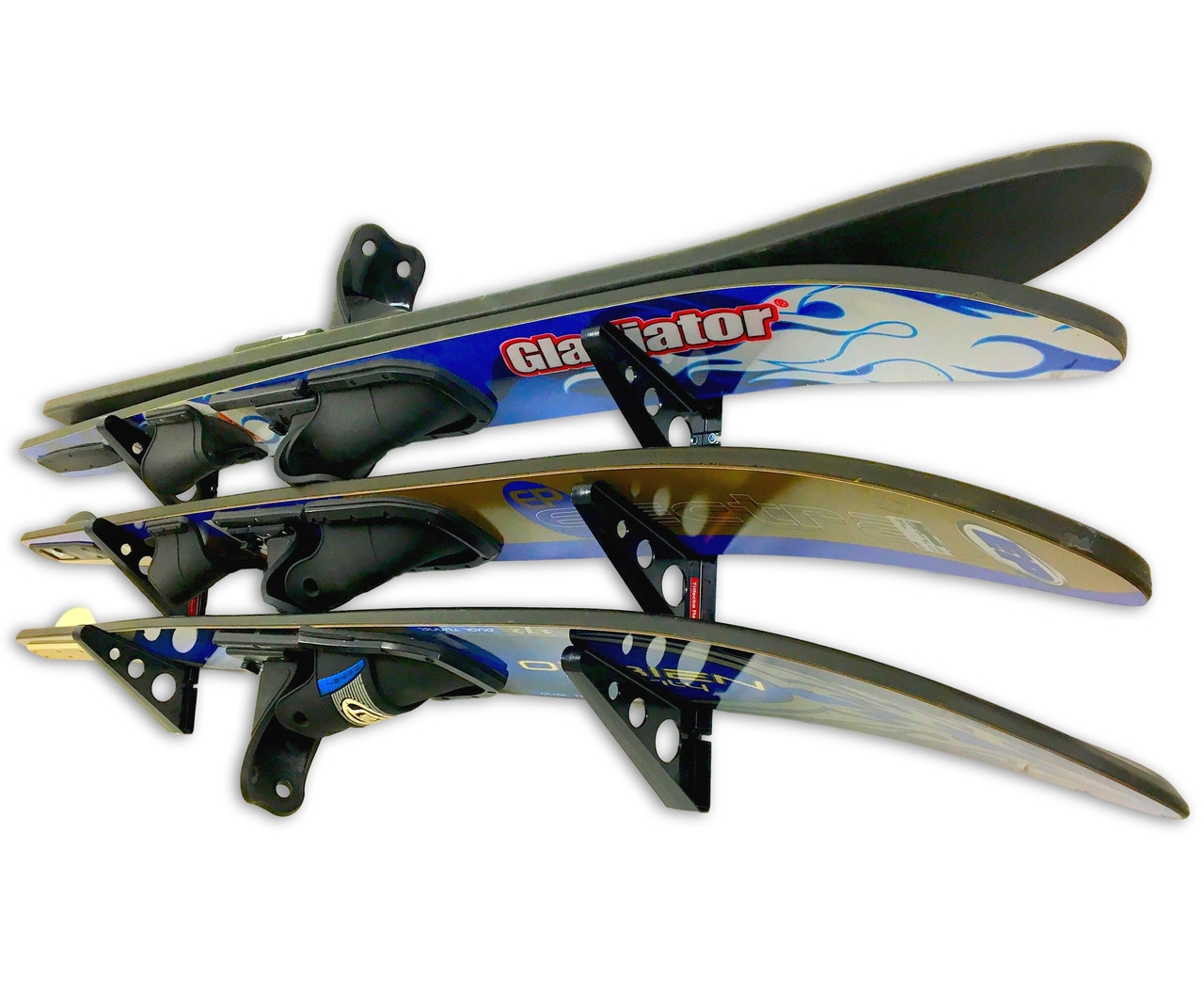 Water Ski Wall Storage | Trifecta Rack | Holds 2 Pairs of Skis