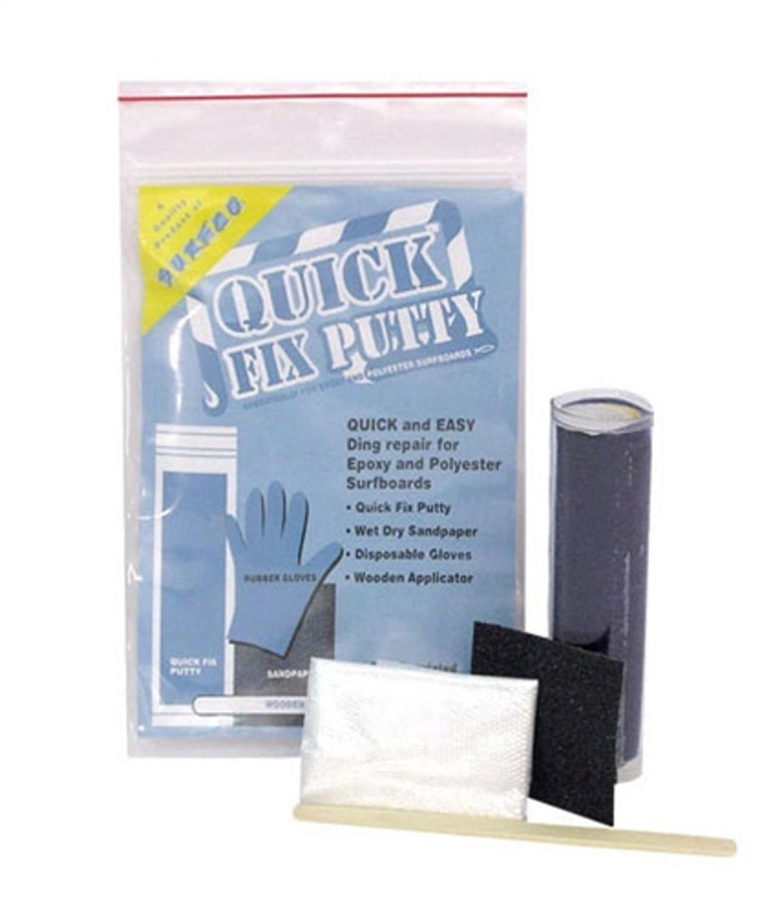 quick fix epoxy putty for polyester and epoxy surfboard repairs
