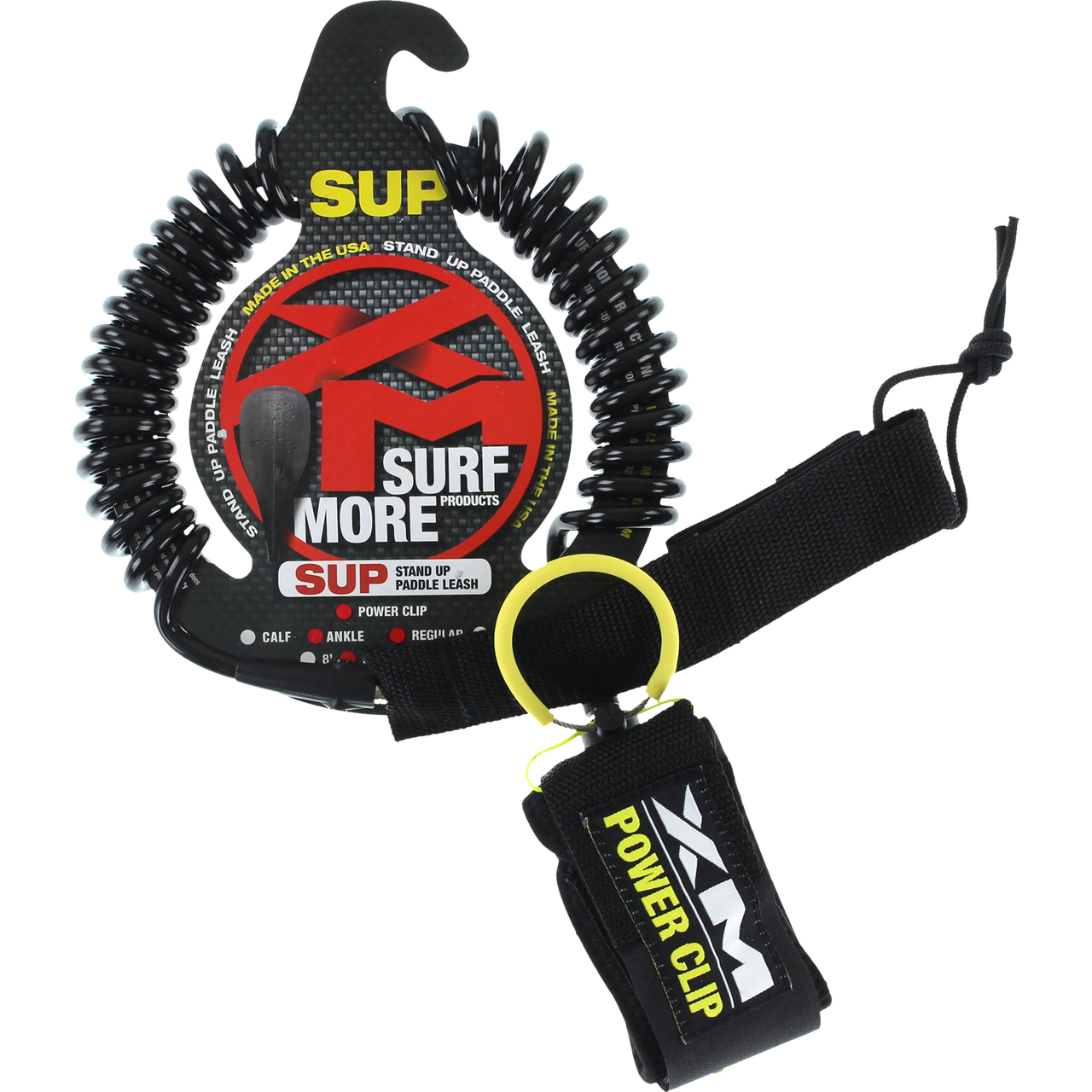 coiled paddleboard leash for flatwater