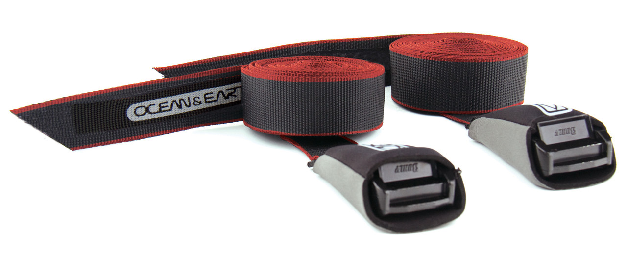 surfboard tie down straps for vehicle car roof ocean and earth