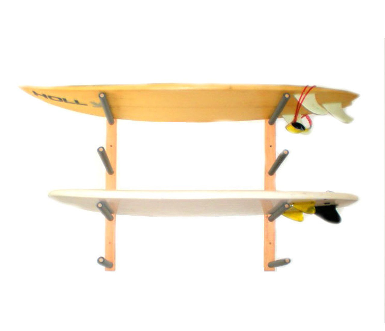 Wood Surfboard Rack | 4 Board Wall Rack