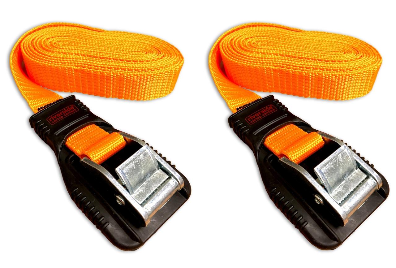 best car roof rack tie down straps nylon set 2