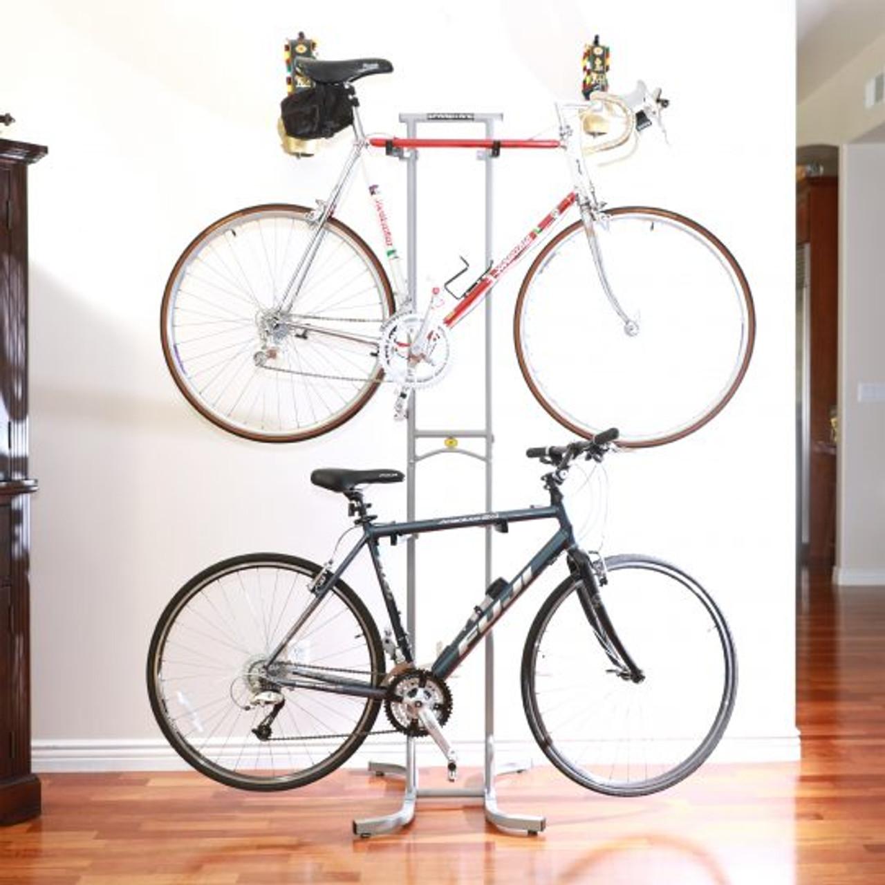 best home apartment garage freestanding bike rack for 2 bikes