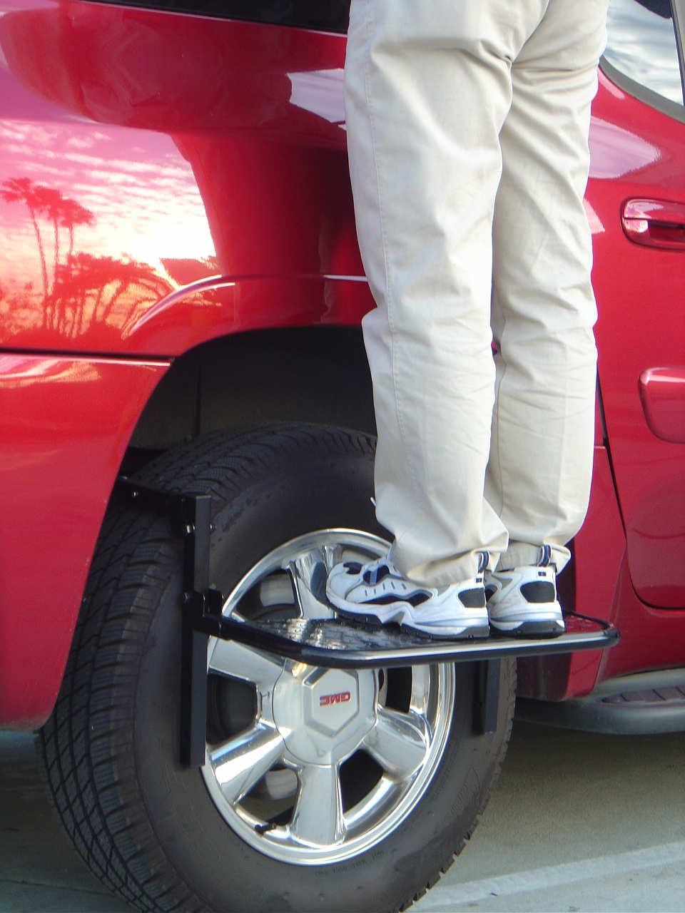 Tire Step Up Adjustable Steel Wheel Step