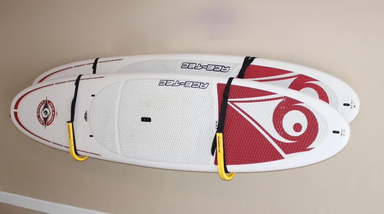paddleboard wall rack for 2 SUPs