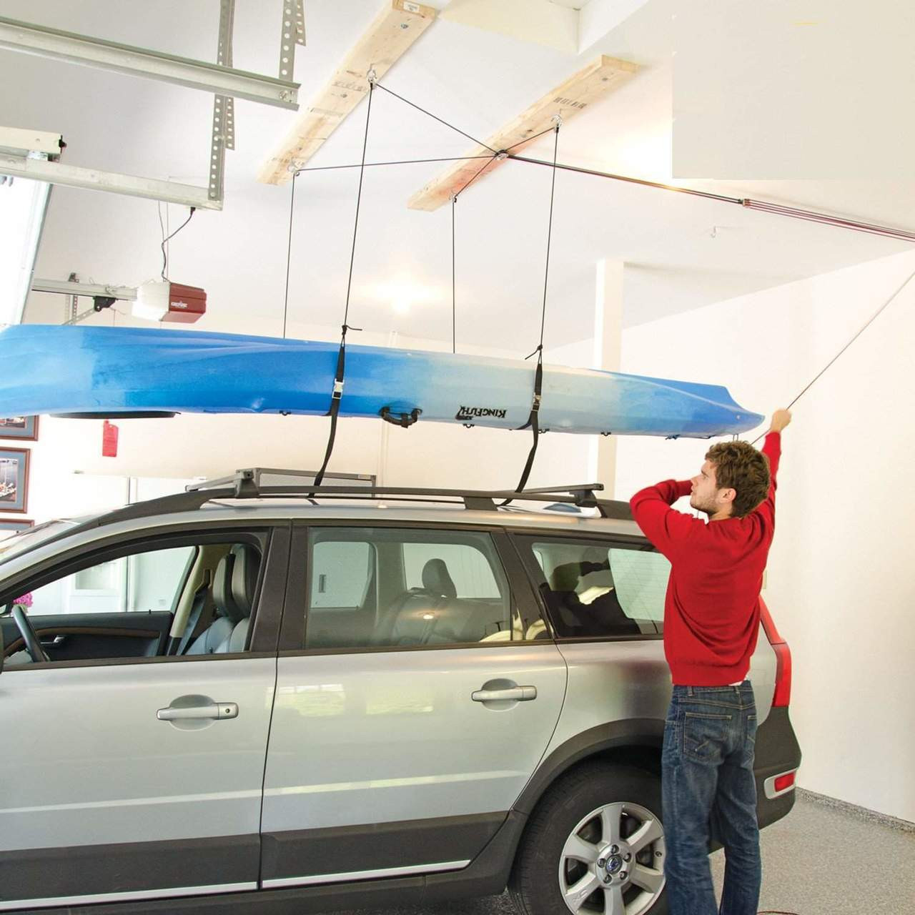 kayak garage hoist pulley