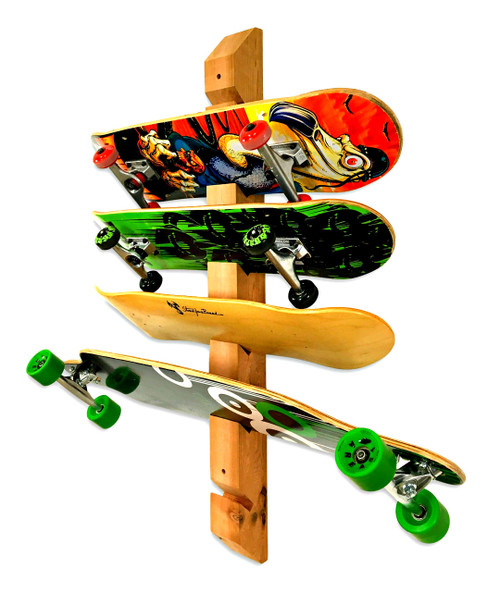 Exceptionnel Handcrafted Cedar Wall Rack | 6 Skateboards