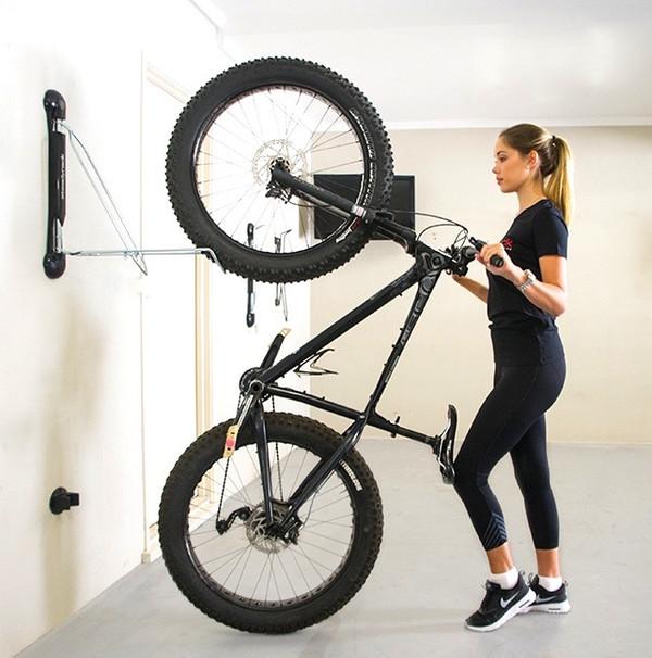 Bicycle Wall Mount Hanger Vertically Cycling Rack Storage Garage Black Holder