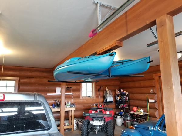 2 Kayak Ceiling Storage Rack Hi Port 2 Adjustable Overhead Mount Storeyourboard Com
