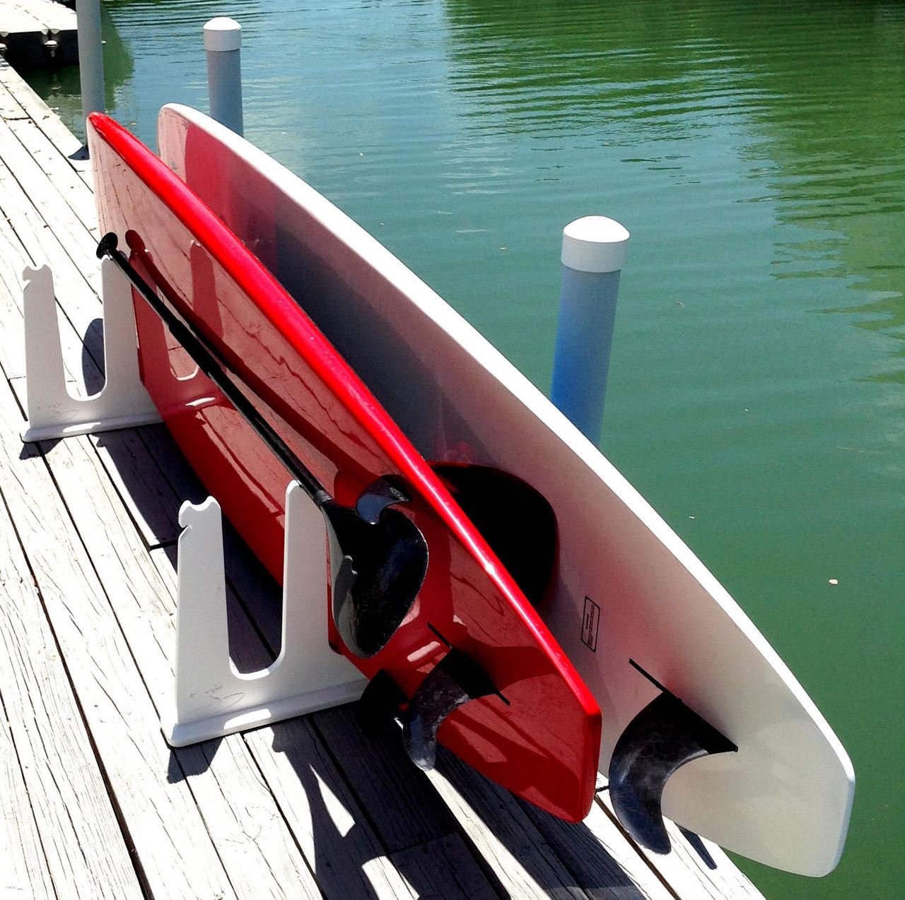 Paddle Board Rack >> Surfboard Rack For Docks And Piers Marine Grade Storeyourboard Com