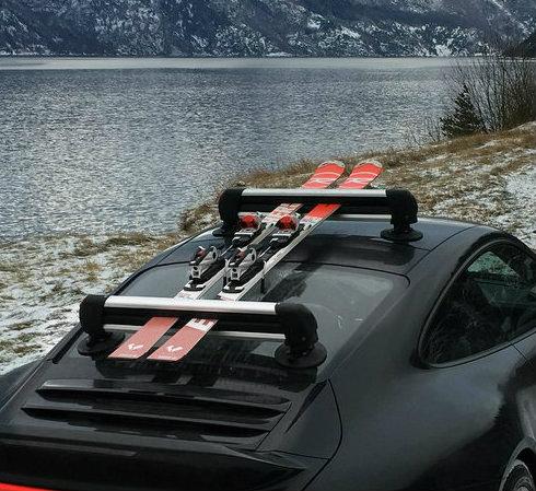 Universal Suction Mount Ski Roof Rack Seasucker