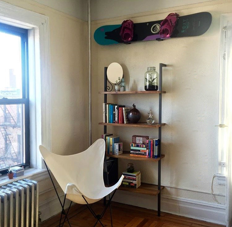 Naked Apartments: Minimalist Snowboard Rack - StoreYourBoard.com