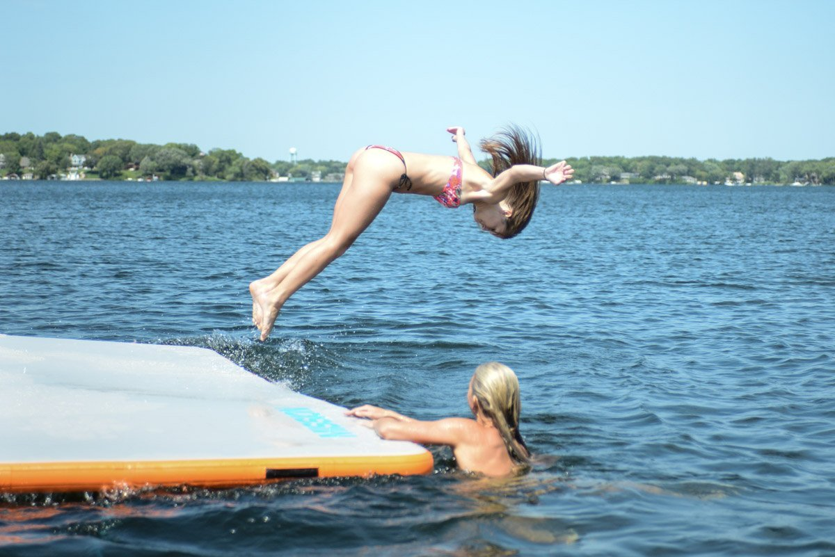 Inflatable REEF Mat | Floating Outdoor Water Mat