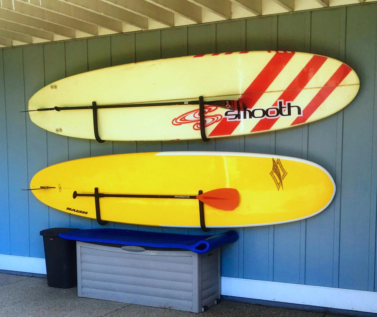 Paddle Board Rack >> Sup Hanger Paddleboard Storage Hooks Storeyourboard Com