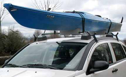 Kayak Roof Rack For Cars Without Rails >> Soft Kayak Roof Rack Universal Kayak Carrier