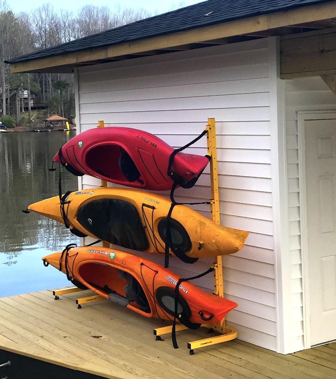 Triple Kayak Storage Rack