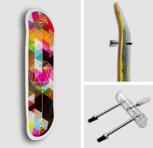 Skateboard Deck Display Floating Mount Storeyourboard Com