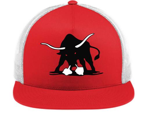 Bulls Trucker Hat Red
