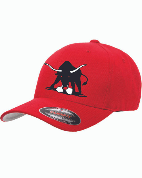Bulls Hat Red Fitted