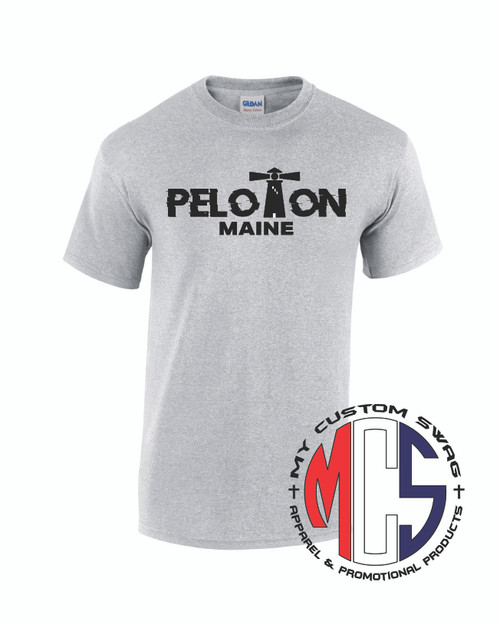 Maine Peloton Men's Shirt Silver Moisture Wicking