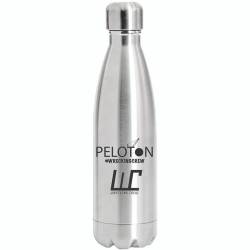 This 17 oz Stainless Steel water bottle is good for riding the bike, sporting events and any other event where you want your beverage cold while keeping everyone else out of your business.