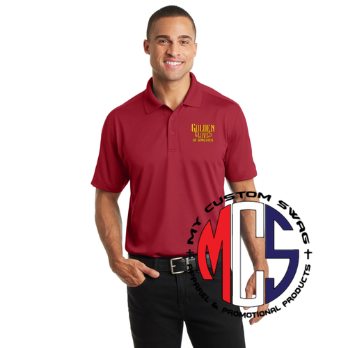 Golden Gloves Polo with Embroidered Logo- 3 Color Choices