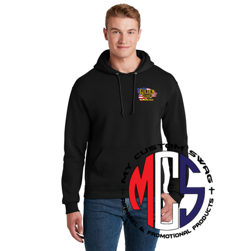 Golden Gloves Hoodie with Embroidered Flag Logo- 5 Color Choices
