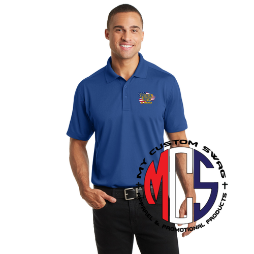 Golden Gloves Polo with Embroidered Flag Logo- 3 color choices