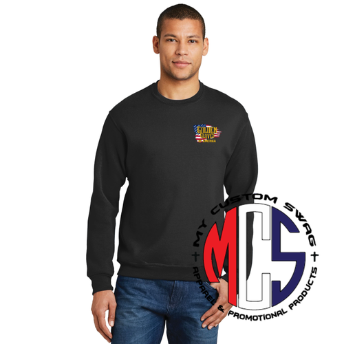 Golden Gloves Crew Embroidered with Flag Logo- 5 Color Choices