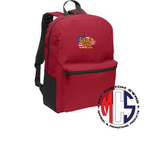 Golden Gloves Backpack with Embroidered Flag Logo- 2 Color Choices