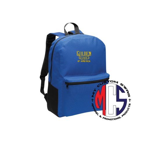 Golden Gloves Backpack with Embroidered Logo- 2 Color Choices