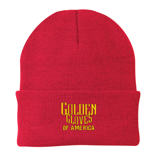 Golden Gloves Cuffed Beanie Embroidered-3 Color Choices