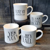 12 oz. Stoneware Mugs with Southern Saying