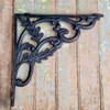 Cast Iron Shelf Bracket with Leaves