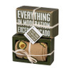 Everything in Moderation  - Avocado Box Sign & Socks Gift Set