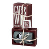 Cats and Wine Make Everything Fine - Box Sign & Socks Gift Set
