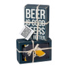 Beer is Good Beers Are Better - Box Sign & Socks Gift Set