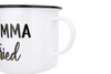 Momma Tried/Lord Have Mercy  Enamelware Camp Mug - Detail Shot
